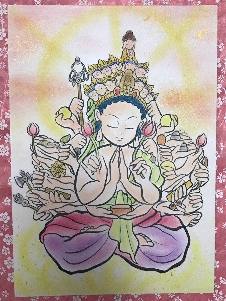 ゆる仏様が7月29日に展示されます。。